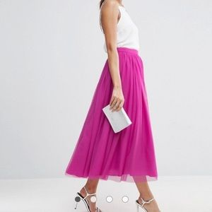 ASOS Tulle Midi Skirt